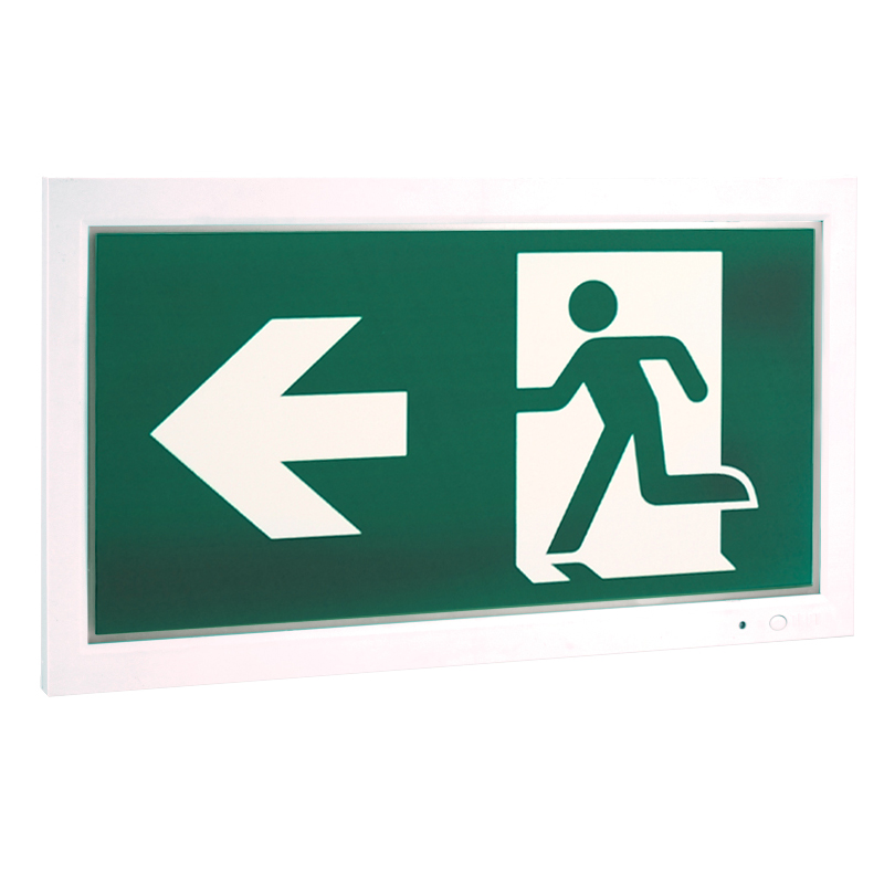 exit sign board Europe
